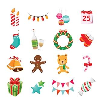 Sammlung von weihnachtsschmuck