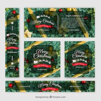 Sammlung von weihnachtsverkauf banner