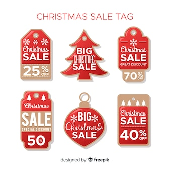 Sammlung von weihnachtsverkaufsmarken