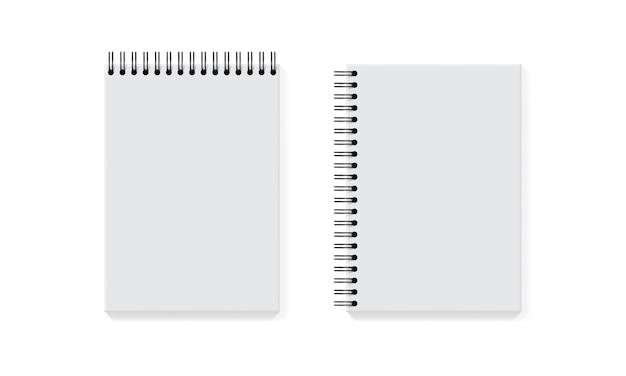 Sammlung von weißen notizbuch auf weiß