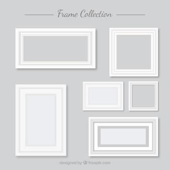 Sammlung von weißen rahmen in flachen design