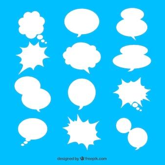 Sammlung von weißen sprechblase