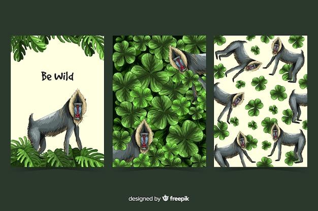 Sammlung von wildtierkarten