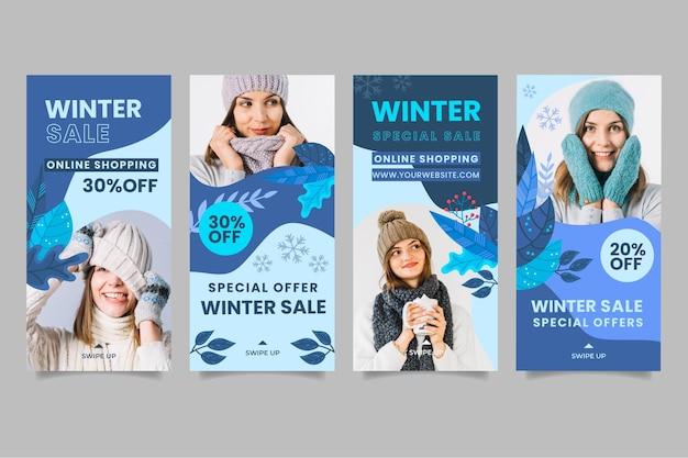 Sammlung von winter-instagram-geschichten