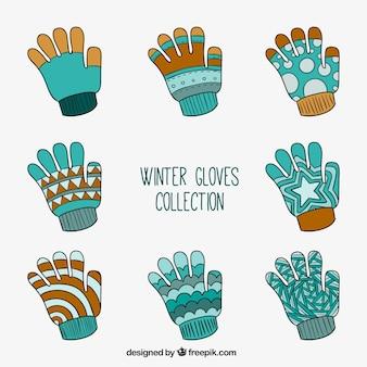 Sammlung von winterhandschuhe