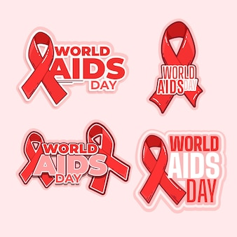 Sammlung von world aids day labels