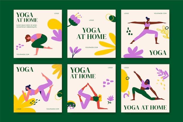 Sammlung von yoga-instagram-posts