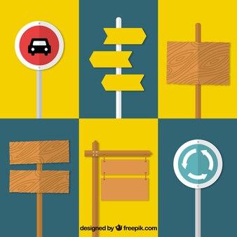 Sammlung von zeichen in flachen design
