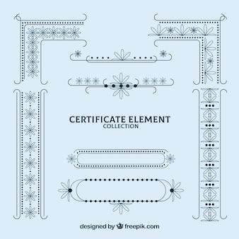 Sammlung von zertifikatselementen