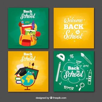 Sammlung von zurück zu Schulkarten