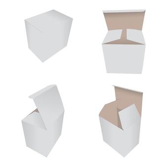 Sammlung weiße box verpackung