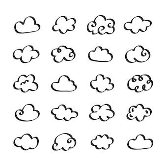 Sammlung wolkenikonenillustration