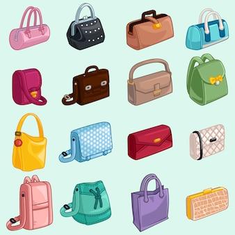 Sammlung womans taschen-ikone