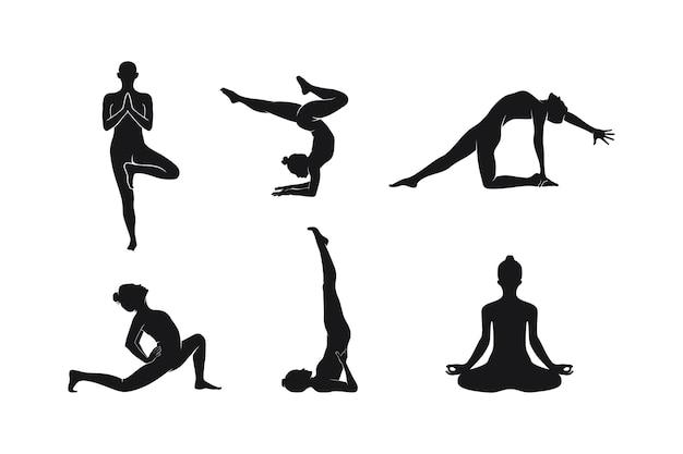Sammlung yoga-pose illustration
