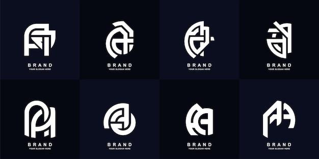 Sammlungsanfangsbuchstabe aa oder a-monogramm-logo-vorlagendesign
