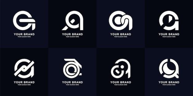 Sammlungsbuchstabe a oder aa monogramm-logo-design