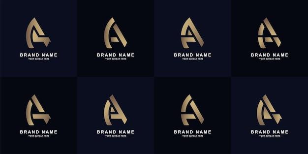 Sammlungsbuchstabe a oder aa-monogramm-logo-vorlagendesign