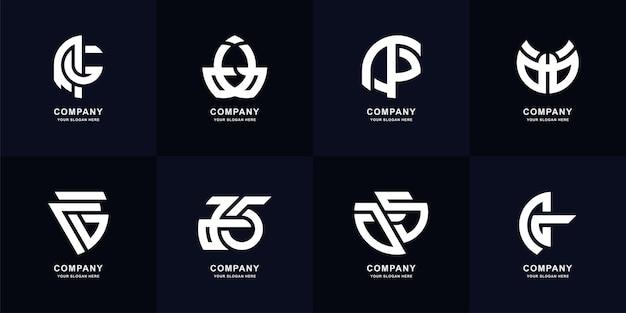 Sammlungsbuchstabe a oder ag-monogramm-logo-vorlagendesign