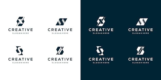 Sammlungsbuchstabe s logo-designvorlage