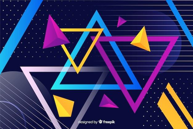 Sammlungshintergrund der geometrischen formen