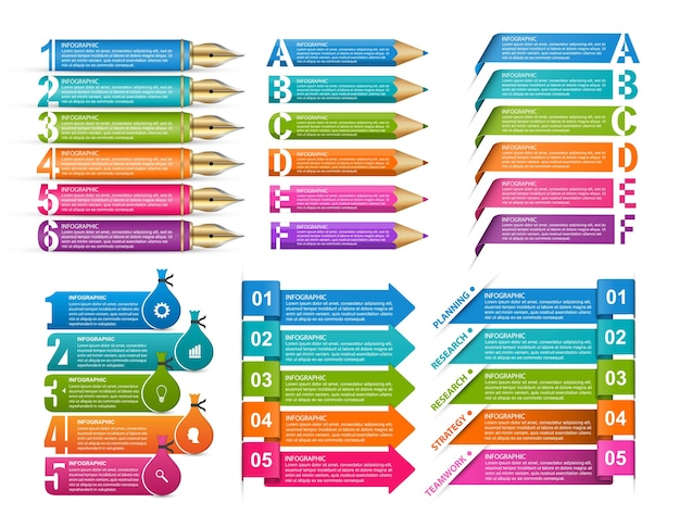 Sammlungsinfografiken gestaltungselemente infografiken für unternehmen