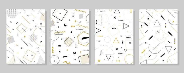 Sammlungskarte mit geometrischen formen