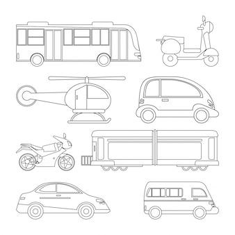 Sammlungstransportfahrzeug-bildentwurf