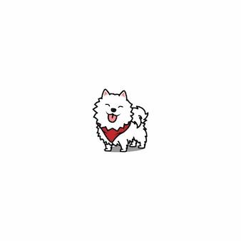 Samojede hund lächelt