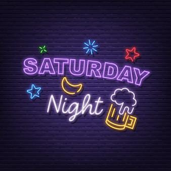 Samstag nacht leuchtreklame