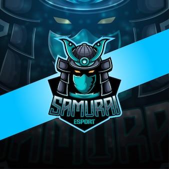 Samurai esport maskottchen logo