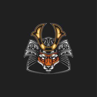 Samurai fuchs illustration
