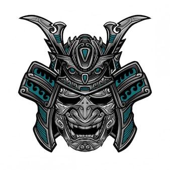 Samurai hanya maskenvektor