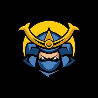 Samurai hanzo maskottchen logo vorlagen