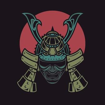 Samurai-kampfkunst-krieger
