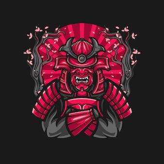 Samurai-krieger-illustration