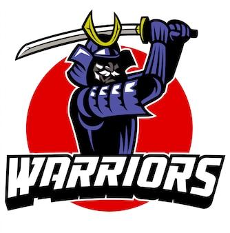 Samurai-krieger-maskottchen