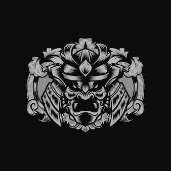 Samurai-krieger-vorlage