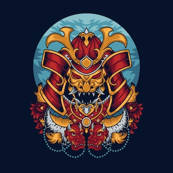 Samurai-masken-illustration
