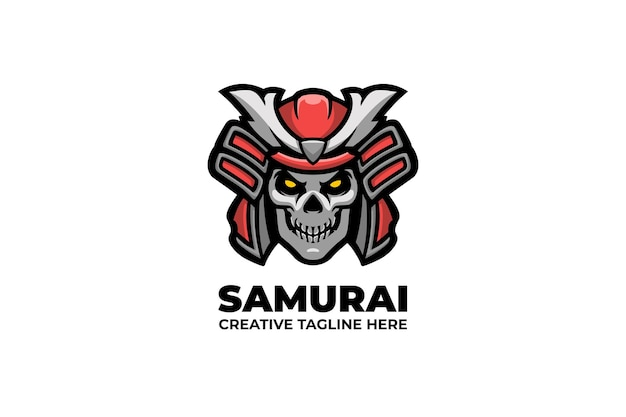 Samurai-ritter-krieger-maskottchen-logo
