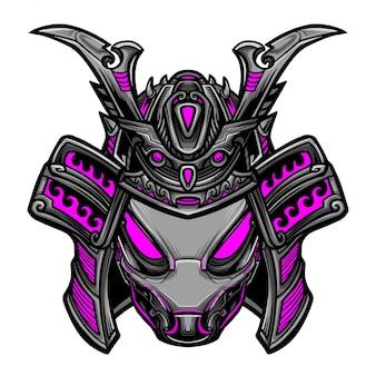 Samurai-roboter-vektor