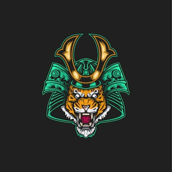 Samurai tiger illustration