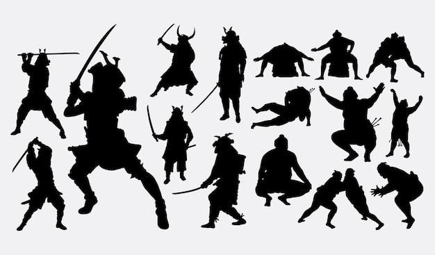 Samurai und sumo japanischer sport