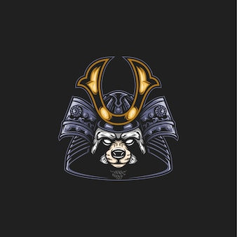 Samurai waschbär illustration