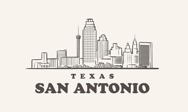 San antonio skyline illustration design