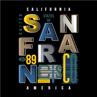 San francisco abstrakte typografie