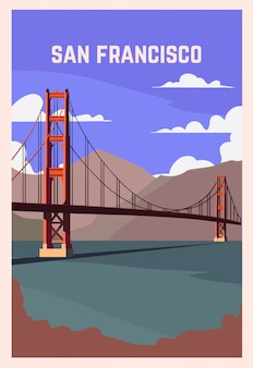 San francisco retro-plakat.