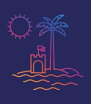 Sandburg und palme design