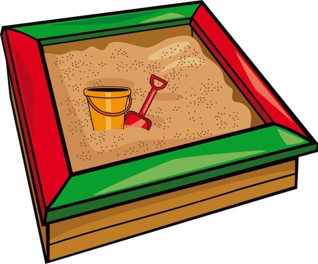 Sandkasten mit spielzeug