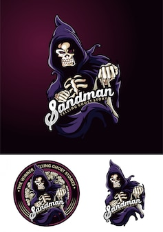 Sandman maskottchen logo gost