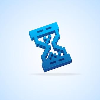 Sanduhr-cursor isoliert auf hellblau